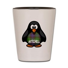 Mitchell Tartan Penguin Shot Glass