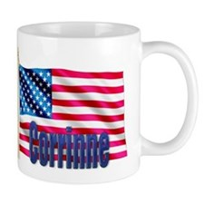 Corrinne Personalized USA Flag Coffee Mug