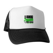 Green Ribbon Best Friend Trucker Hat
