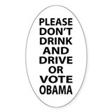 Dont Vote Obama - 2012 Election Decal
