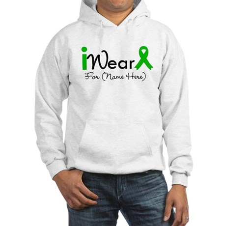 Personalize I Wear Green Hooded Sweatshirt