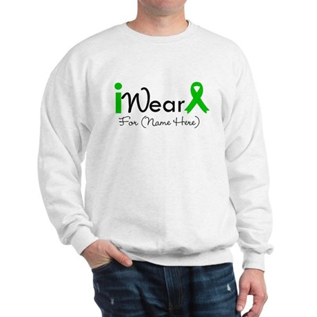 Personalize I Wear Green Sweatshirt