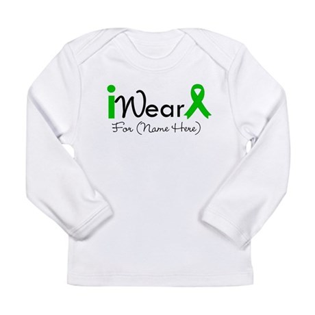 Personalize I Wear Green Long Sleeve Infant T-Shir