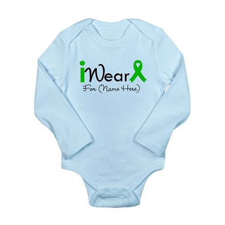 Personalize I Wear Green Long Sleeve Infant Bodysu