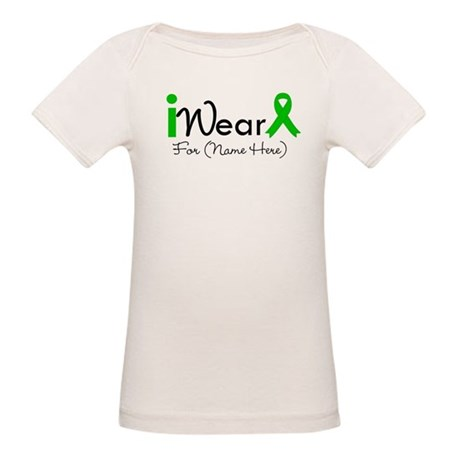 Personalize I Wear Green Organic Baby T-Shirt