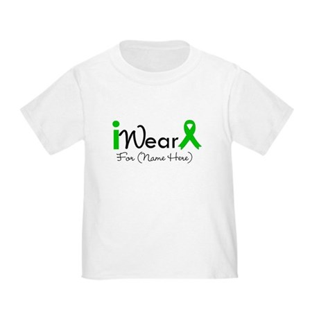 Personalize I Wear Green Toddler T-Shirt
