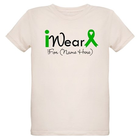 Personalize I Wear Green Organic Kids T-Shirt