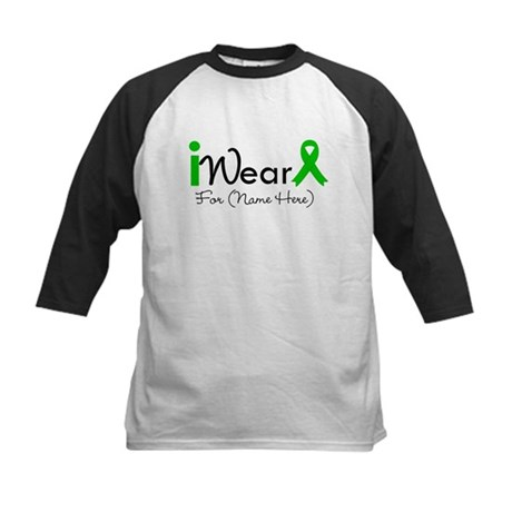 Personalize I Wear Green Kids Baseball Jersey