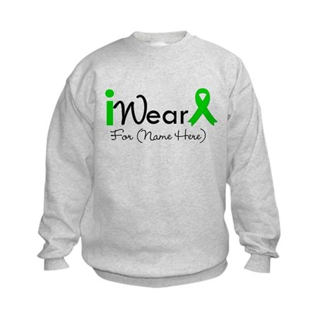 Personalize I Wear Green Kids Sweatshirt