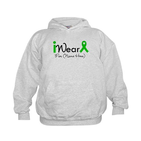 Personalize I Wear Green Kids Hoodie