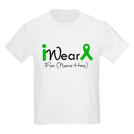 Personalize I Wear Green Kids Light T-Shirt