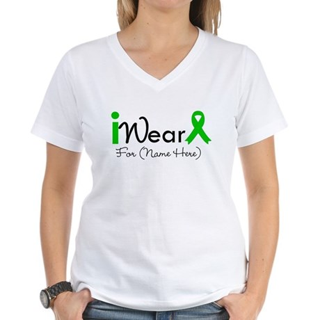 Personalize I Wear Green Women's V-Neck T-Shirt