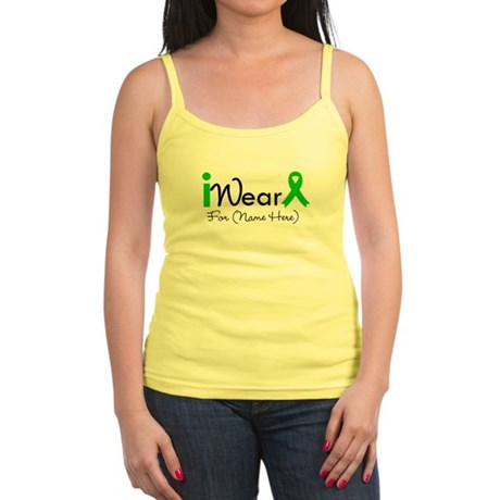 Personalize I Wear Green Jr. Spaghetti Tank