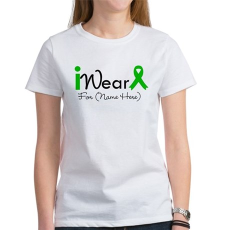 Personalize I Wear Green Women's T-Shirt