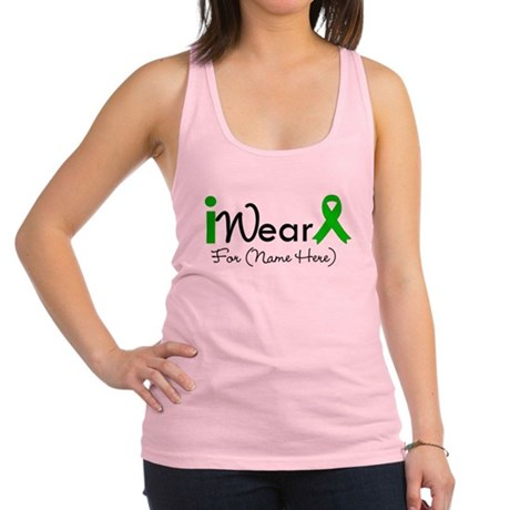 Personalize I Wear Green Racerback Tank Top