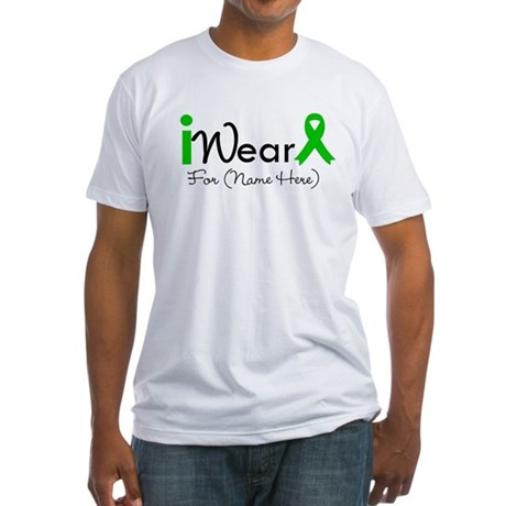 Personalize I Wear Green Fitted T-Shirt