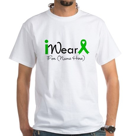 Personalize I Wear Green White T-Shirt