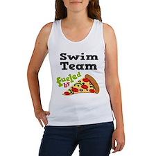 Swim Team Funny Pizza Women's Tank Top