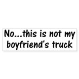 Not My Boyfriend's Truck Bumper Car Sticker