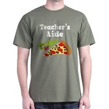 Teacher's Aide Funny Pizza T-Shirt