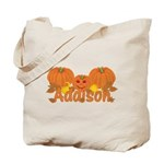Halloween Pumpkin Addison Tote Bag