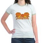 Halloween Pumpkin Addison Jr. Ringer T-Shirt