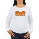 Halloween Pumpkin Addison Women's Long Sleeve T-Sh