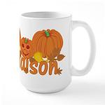Halloween Pumpkin Addison Large Mug