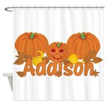 Halloween Pumpkin Addison Shower Curtain