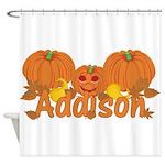 Halloween Pumpkin Addison Shower Curtain