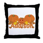 Halloween Pumpkin Addison Throw Pillow