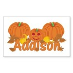 Halloween Pumpkin Addison Sticker (Rectangle)