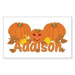 Halloween Pumpkin Addison Sticker (Rectangle)