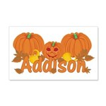 Halloween Pumpkin Addison 20x12 Wall Decal
