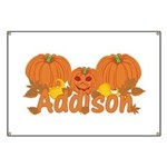 Halloween Pumpkin Addison Banner
