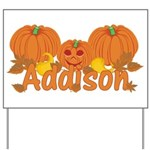 Halloween Pumpkin Addison Yard Sign