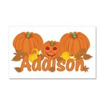 Halloween Pumpkin Addison Car Magnet 20 x 12