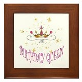 BIRTHDAY QUEEN Framed Tile
