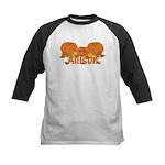 Halloween Pumpkin Allison Kids Baseball Jersey