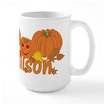 Halloween Pumpkin Allison Large Mug