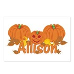 Halloween Pumpkin Allison Postcards (Package of 8)
