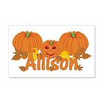 Halloween Pumpkin Allison 20x12 Wall Decal