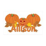 Halloween Pumpkin Allison 35x21 Wall Decal