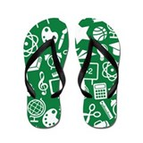 Teacher and Student School Flip Flops