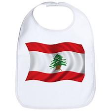 Wavy Lebanon Flag Bib