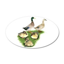 Welsh Harlequin Duck Family Wall Decal