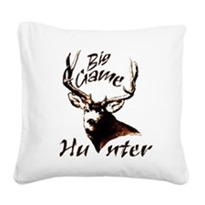 Big game hunter Square Canvas Pillow