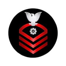 """Navy Chief Engineman 3.5"""" Button"""
