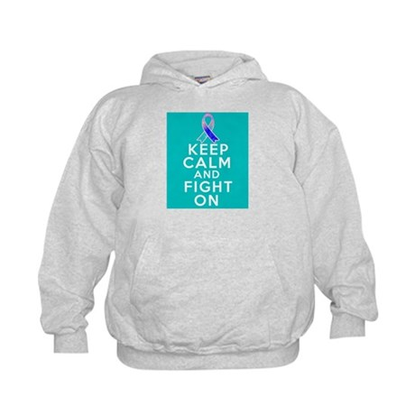 Thyroid Cancer Keep Calm Fight On Kids Hoodie