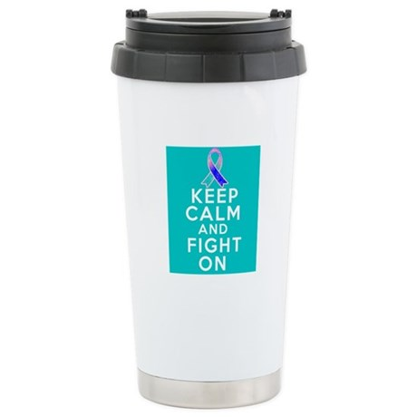 Thyroid Cancer Keep Calm Fight On Ceramic Travel M